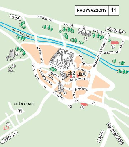 nagyvázsony községh térkép