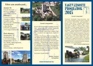 Nagyvázsonyi programok 2015