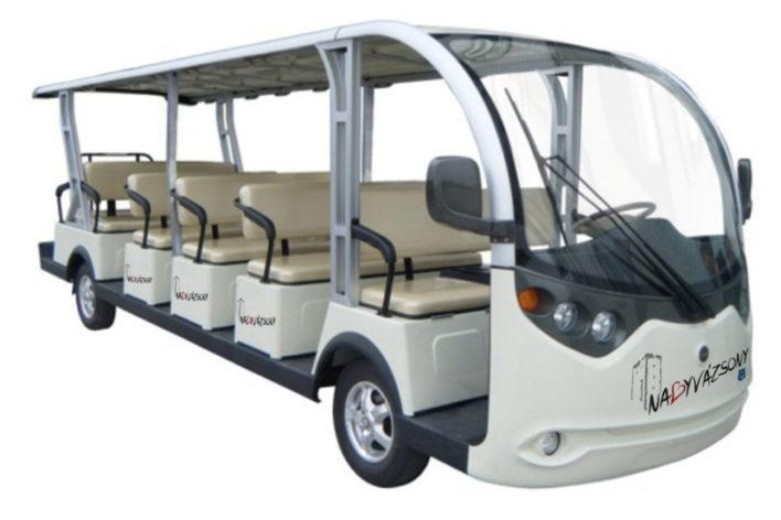 Elektromos kisbusz érkezett és jár a településen