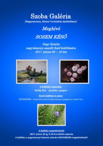 Szoba Galéria következő kiállítása június 09-én