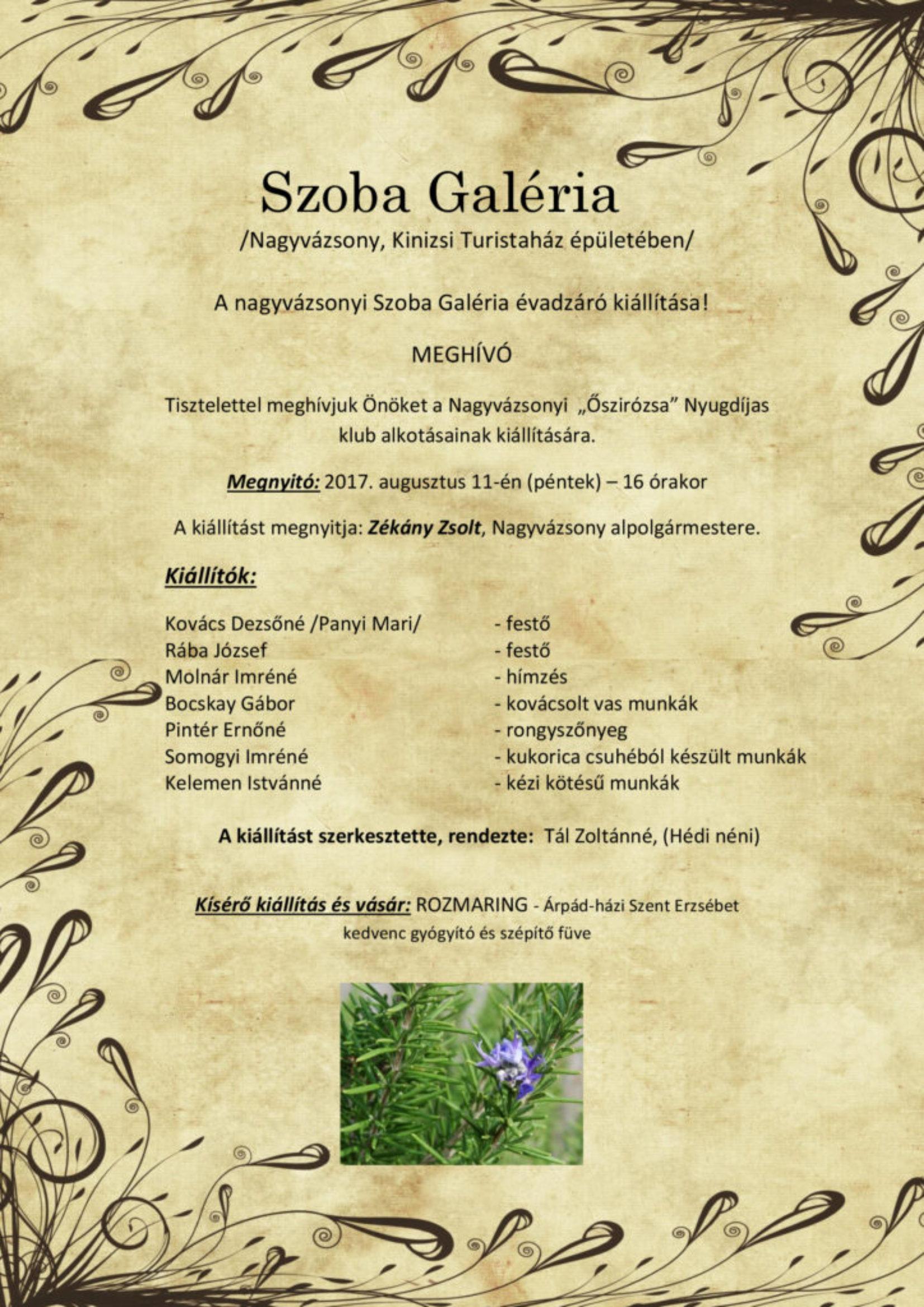 Évadzáró kiállítás megnyitó a Szoba Galériában