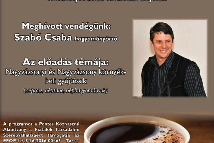 Közéleti Kávéház Sorozat – Szabó Csaba
