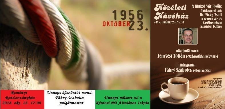 Október 23-i ünnepség és a Közéleti Kávéház sorozat