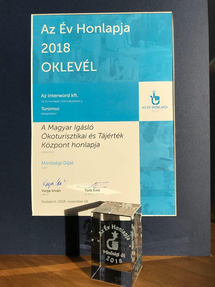 Az év honlapja díj 2018!